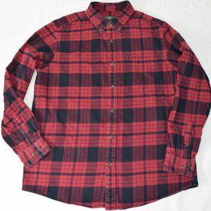 Eddie Bauer Plaid Flanner Red Black Vintage Large